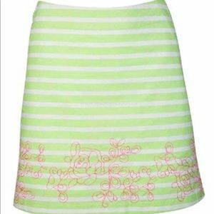 🆕 Lady Haagen Islamorada Stripe Embroidered Skort